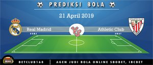 Prediksi Real Madrid Vs Athletic Club 21 April 2019