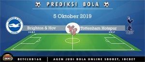 Prediksi Brighton & Hov Vs Tottenham Hotspur 5 Oktober 2019
