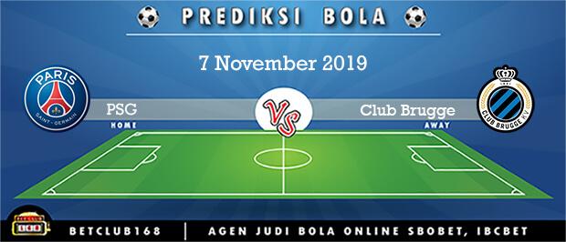 Prediksi PSG Vs Club Brugge 7 November 2019