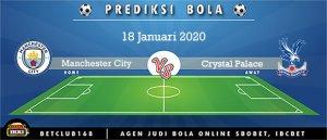 Prediksi Manchester City Vs Crystal Palace 18 Januari 2020