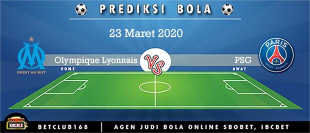 Prediksi Olympique Lyonnais Vs PSG 23 Maret 2020