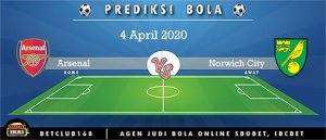 Prediksi Arsenal Vs Norwich City 4 April 2020